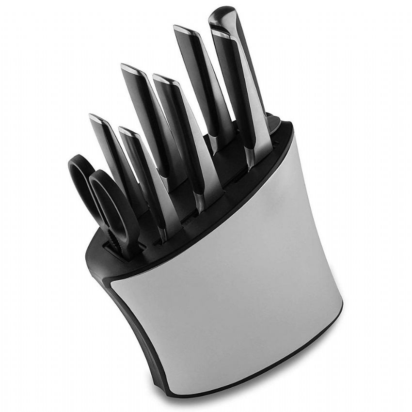 Rockingham Forge 9 Piece Stainless Steel Knife Block